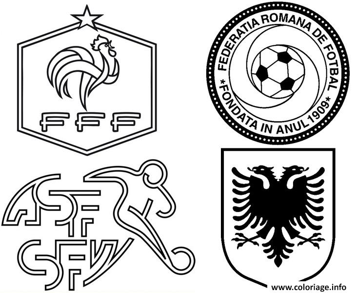 Coloriage euro 2016 france groupe a france suisse roumanie albanie foot dessin - Coloriage equipe de foot ...