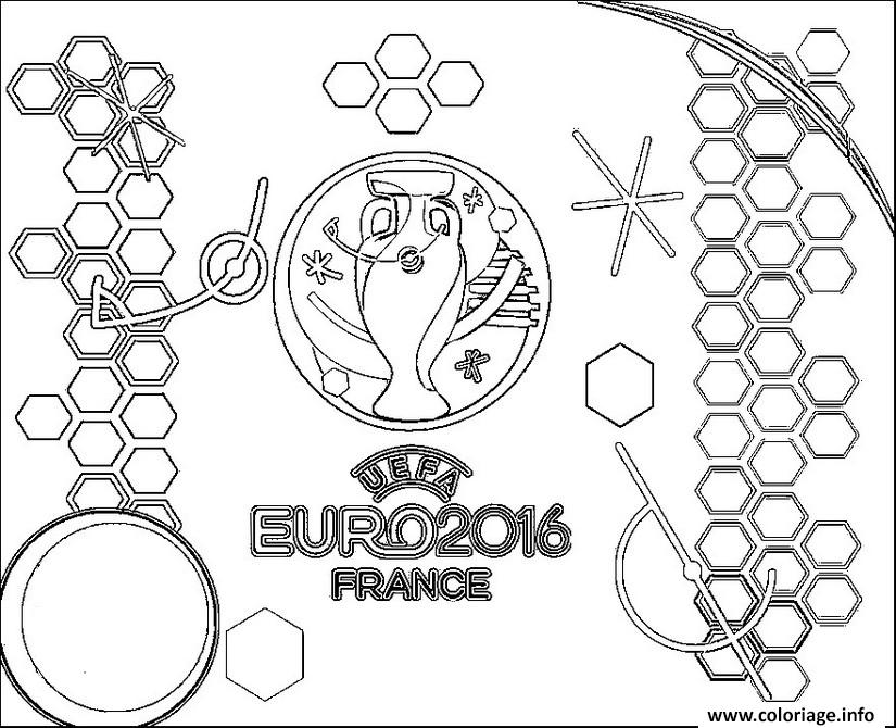 Coloriage euro 2016 france logo championnat de football dessin - Coloriage a imprimer foot ...