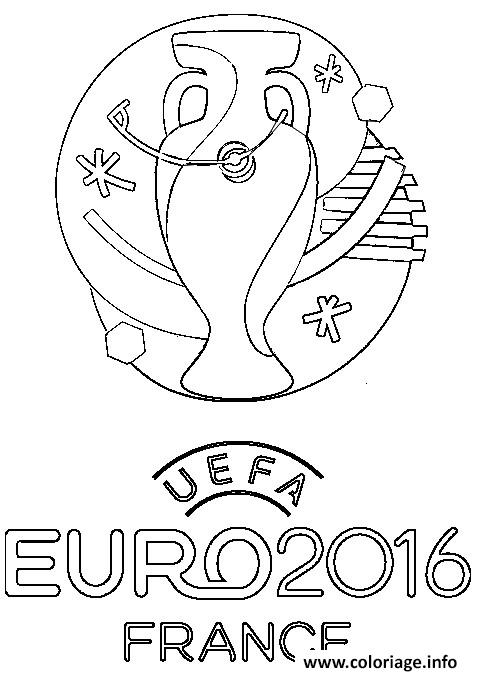 Coloriage Logo Euro 2016 France Football Foot Jecolorie Com