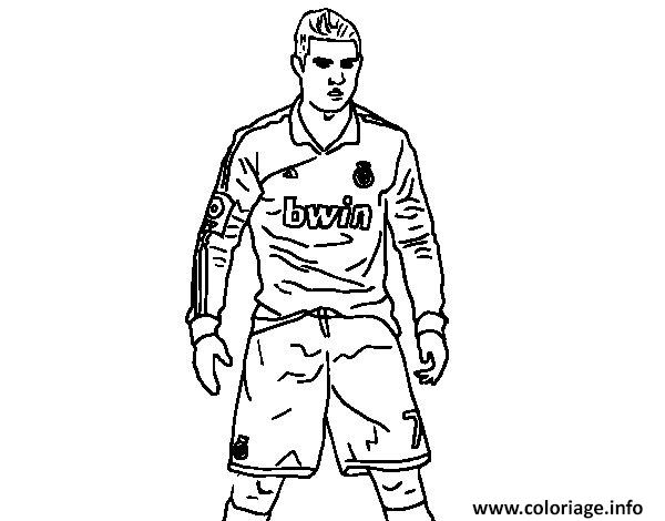 coloriage cristiano ronaldo real madrid victoire position but