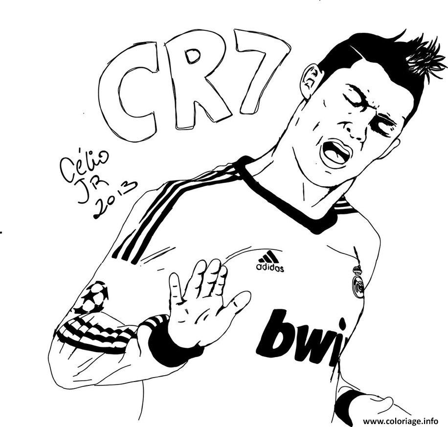 Coloriage cr7 cristiano ronaldo but oklm dessin - Coloriage foot gratuit ...