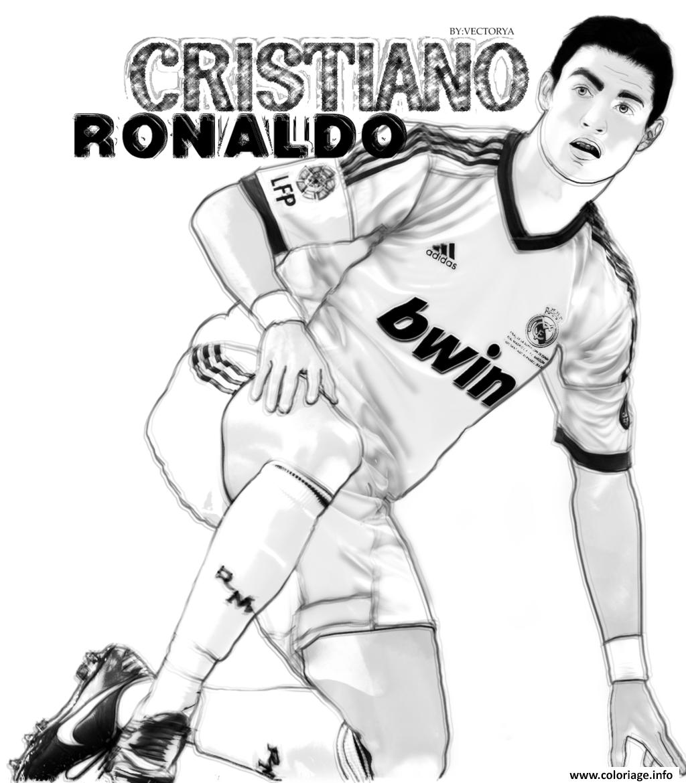 Coloriage cristiano ronaldo vector surpris dessin - Coloriage de cristiano ronaldo ...