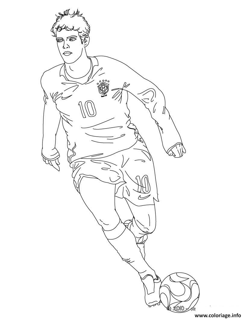 Coloriage joueur football kaka dessin - Dessins de football ...