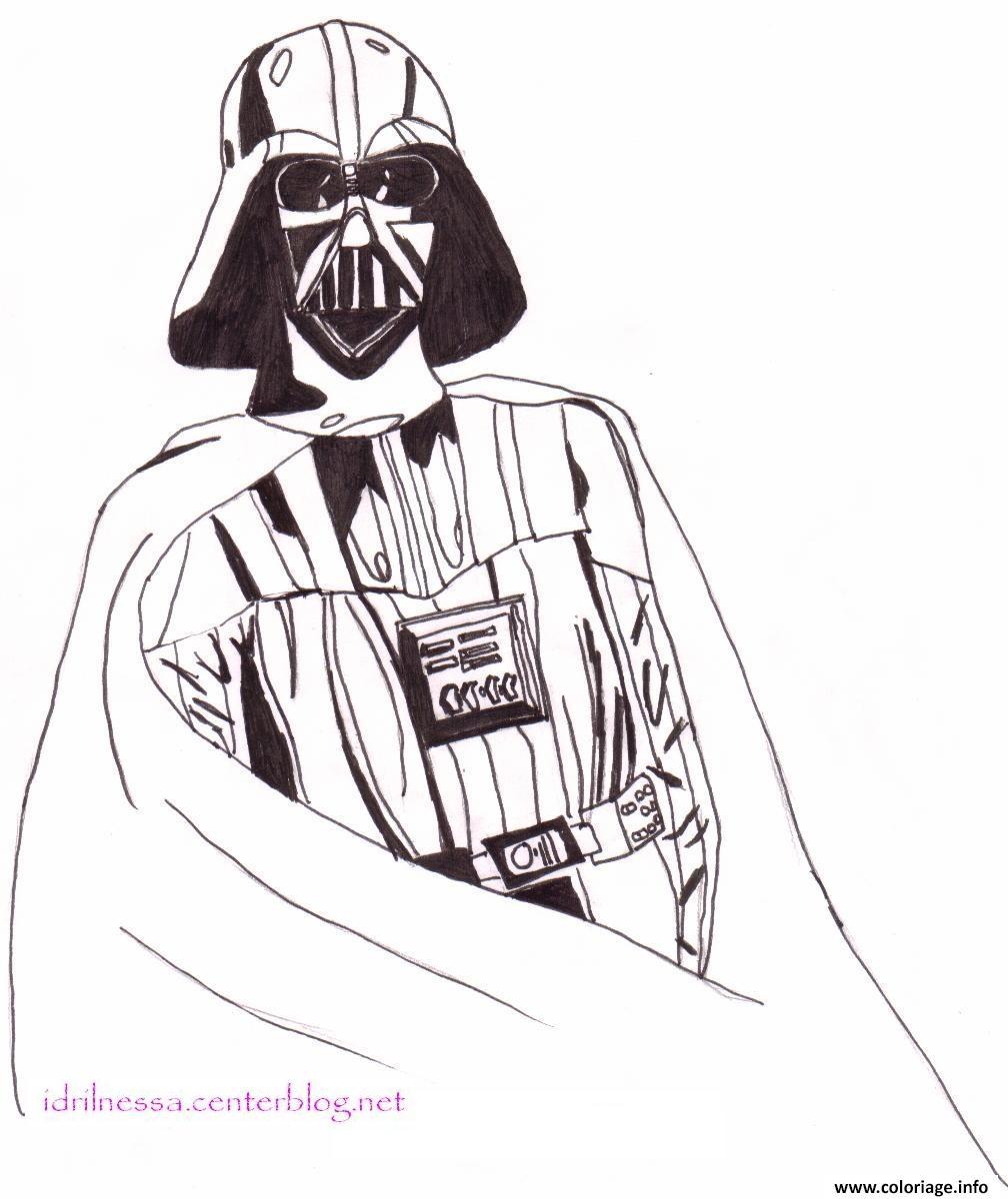 Dessin dessin amateur dark vador Coloriage Gratuit à Imprimer