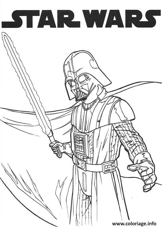 Coloriage dark vador star wars dessin - Coloriage star wars en ligne ...