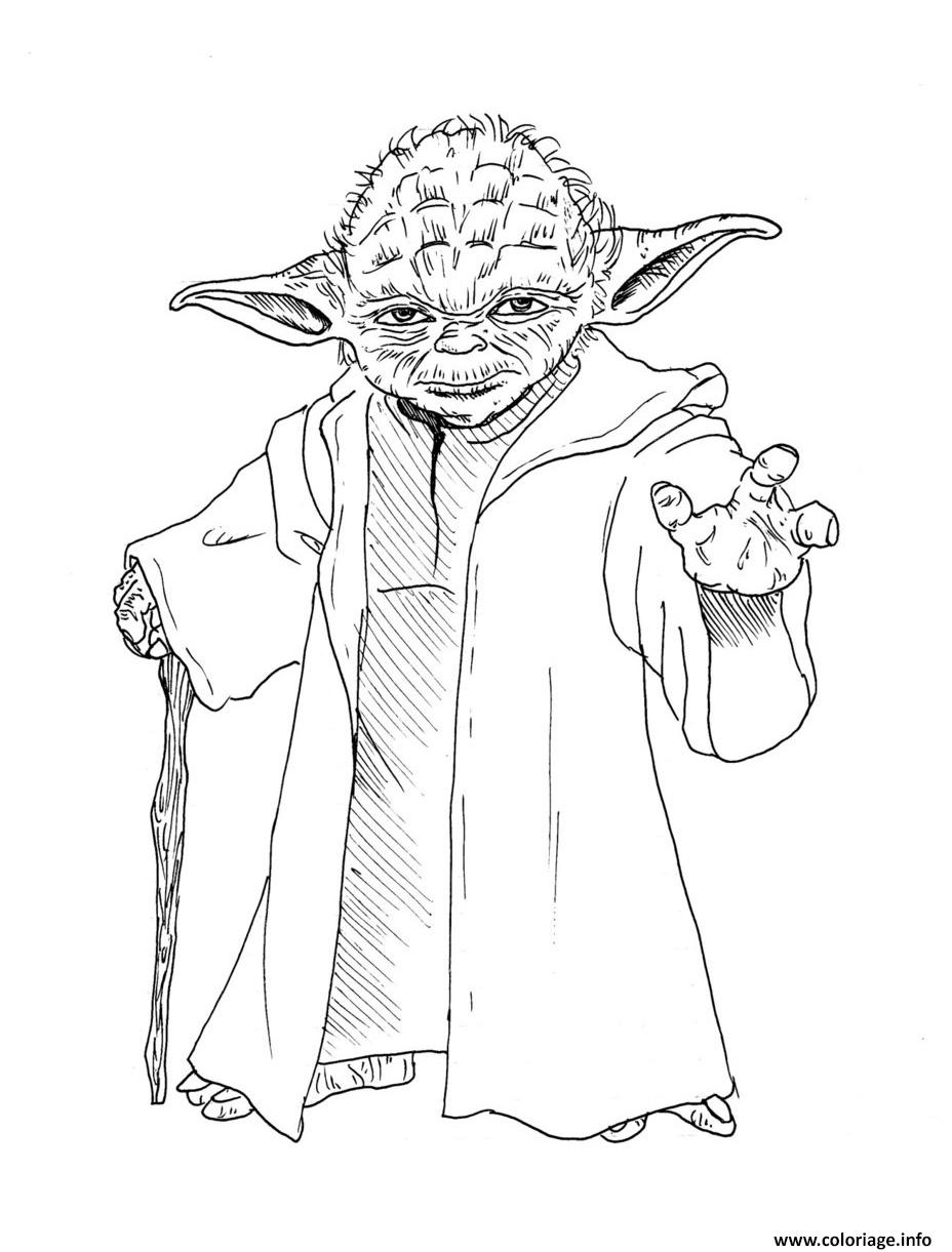Coloriage yoda star wars dessin - Coloriage magique star wars ...