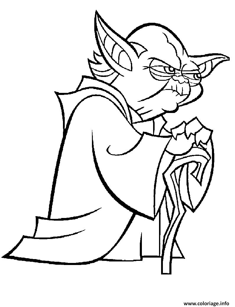 Dessin master yoda clonewars jedi Coloriage Gratuit à Imprimer