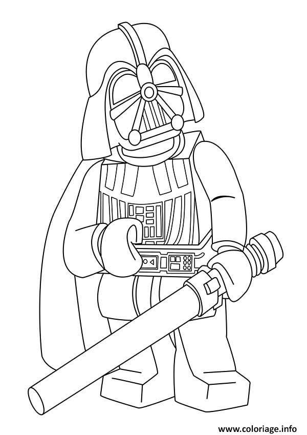 ninjago vs darth vader lego coloring pages | Coloriage dark vador lego star wars - JeColorie.com