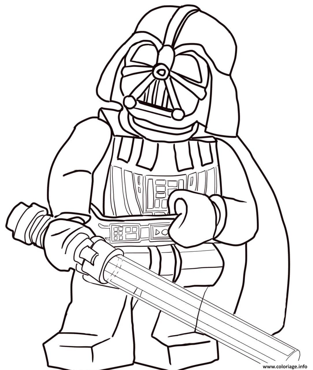 Coloriage lego star wars darth vader - Star wars gratuit ...
