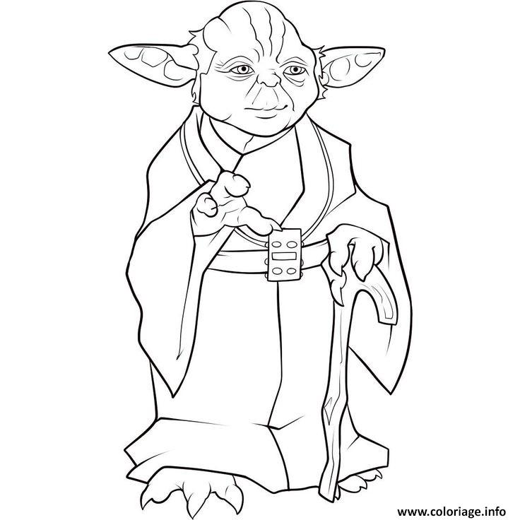 Coloriage yoda star wars dessiner - Yoda coloriage ...