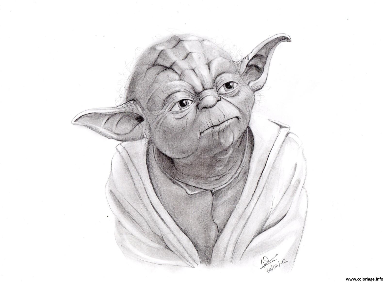 Coloriage yoda star wars pro dessin - Star wars gratuit ...