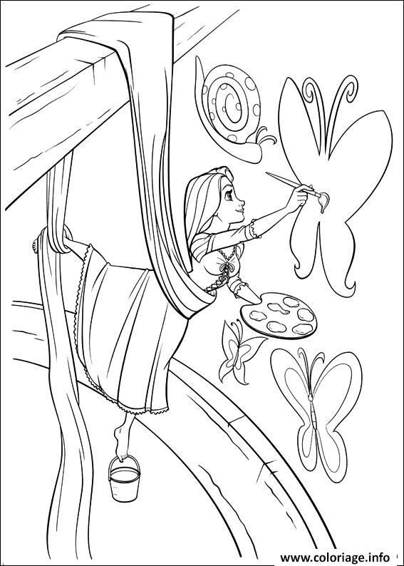 dessin princesse raiponce peinture coloriage gratuit imprimer