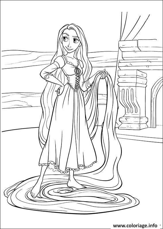 Coloriage Princesse Raiponce Facile.Dessin Facile Disney Raiponce