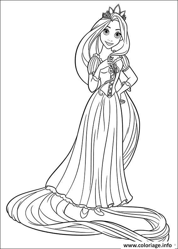 Coloriage secret de raiponce princesse disney dessin - Jeu de coloriage de princesse ...