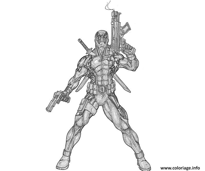 Coloriage deadpool 38 dessin - Dessin deadpool ...