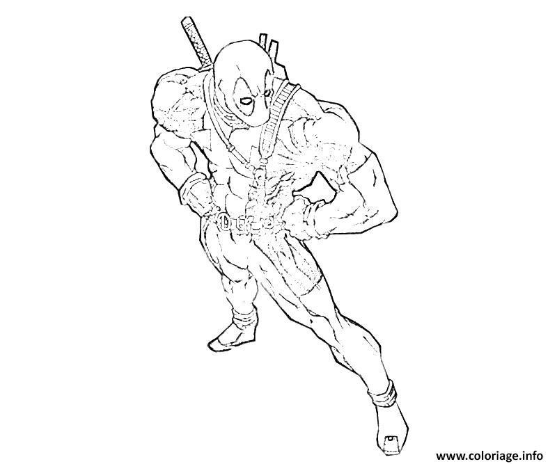 Coloriage Deadpool 40 Dessin