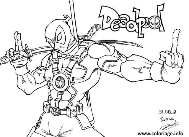 Coloriage Deadpool Ne Rigole Pas