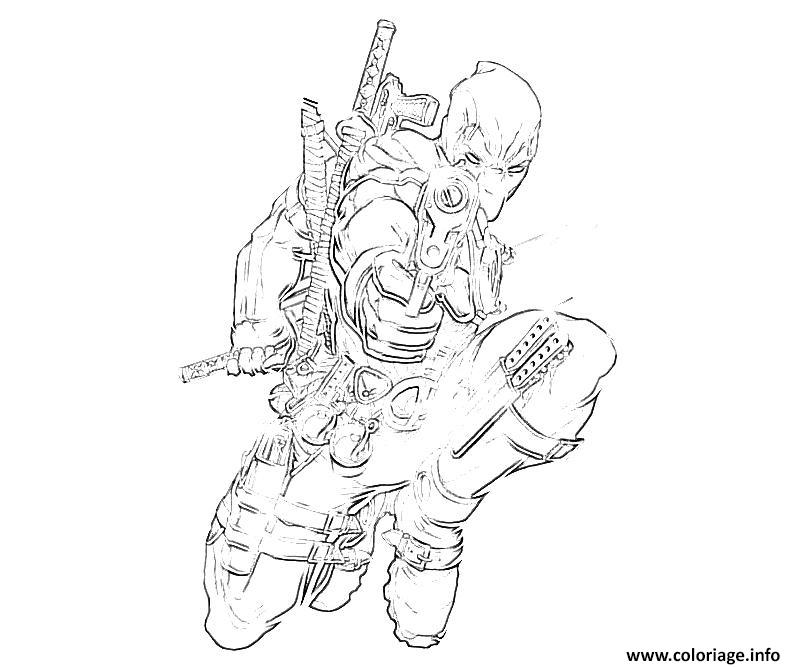 Coloriage Deadpool 18 dessin
