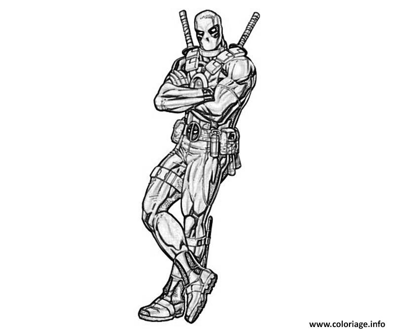 Coloriage deadpool a colorier - Dessin deadpool ...