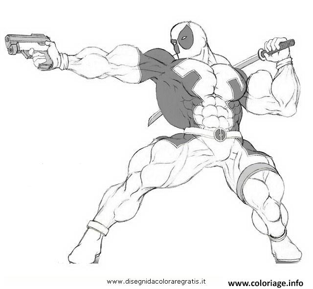 Coloriage deadpool a colorier 4 dessin - Dessin deadpool ...