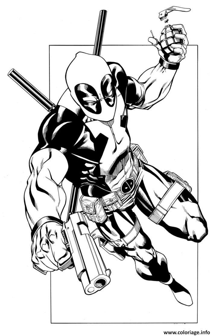 Coloriage deadpool 7 dessin - Deadpool dessin ...