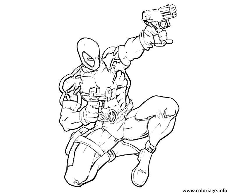 Coloriage Deadpool Marvel 16 Dessin à Imprimer