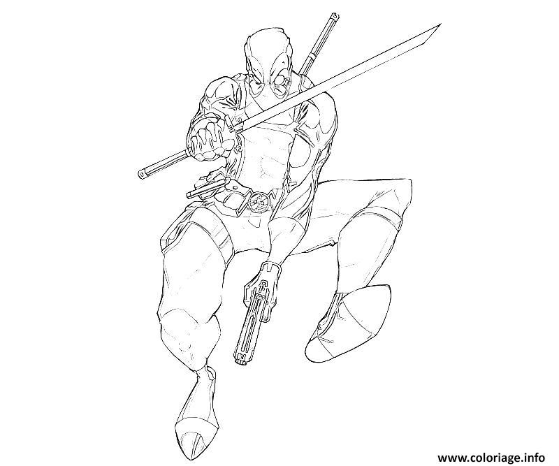 Coloriage deadpool 30 dessin - Dessins imprimer ...