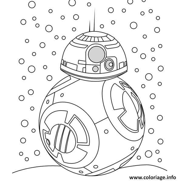 Coloriage bb8 neige noel star wars dessin - Coloriage magique star wars ...