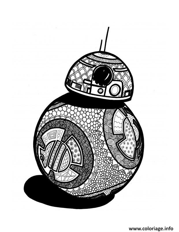 Coloriage bb8 starwars adulte - Cadeau star wars adulte ...