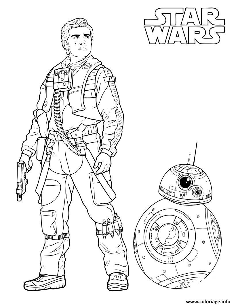 Coloriage poe dameron drone bb8 dessin for Star wars bb8 coloring pages