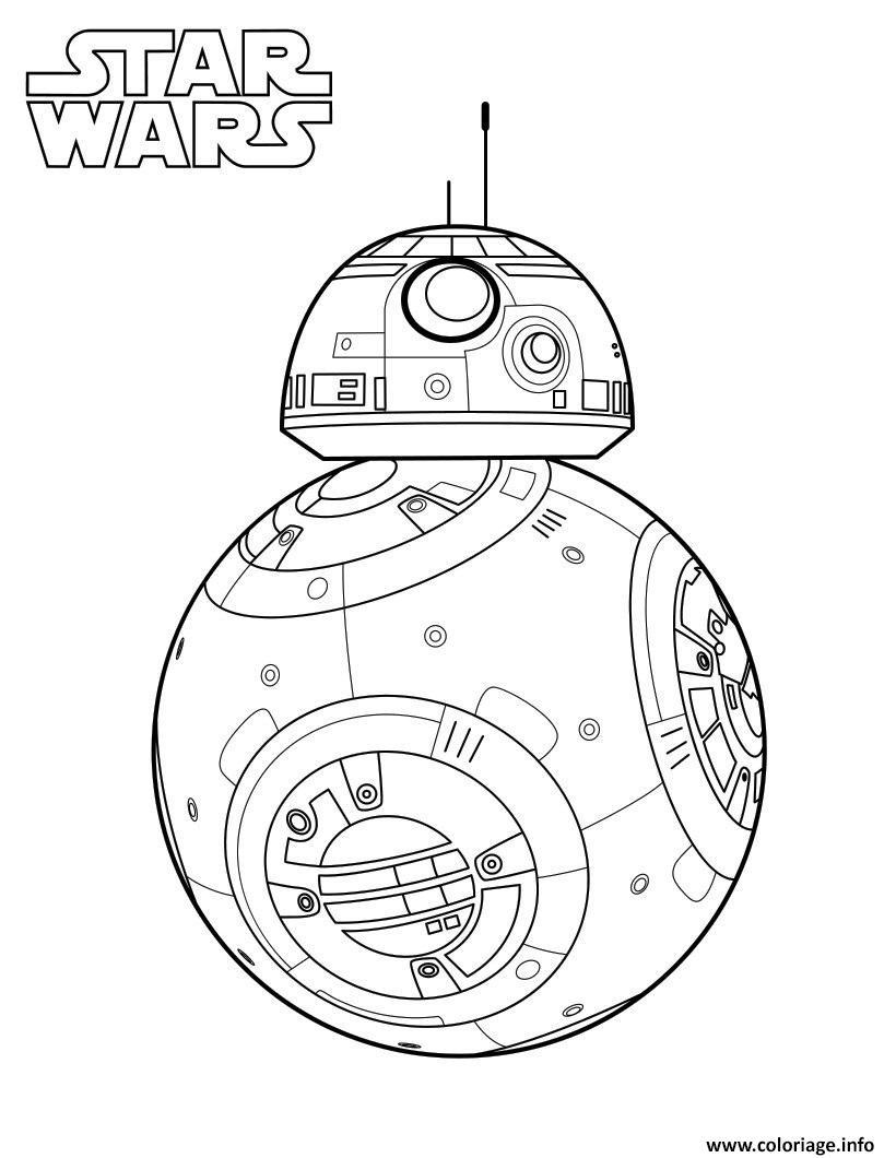 Coloriage Starwars Bb8 Dessin Star Wars A Imprimer