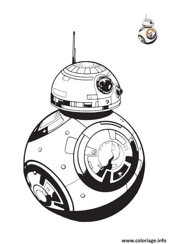 Coloriage bb8 colorier starwars dessin - Star wars a imprimer gratuit ...