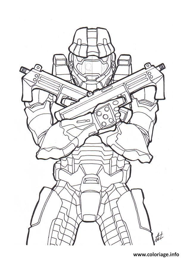 Coloriage Halo Colorier dessin