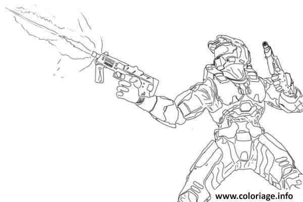 Coloriage Halo Photos Dessin