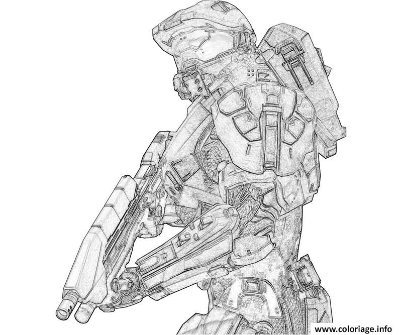 Coloriage halo 3 to print for Halo 3 coloring pages