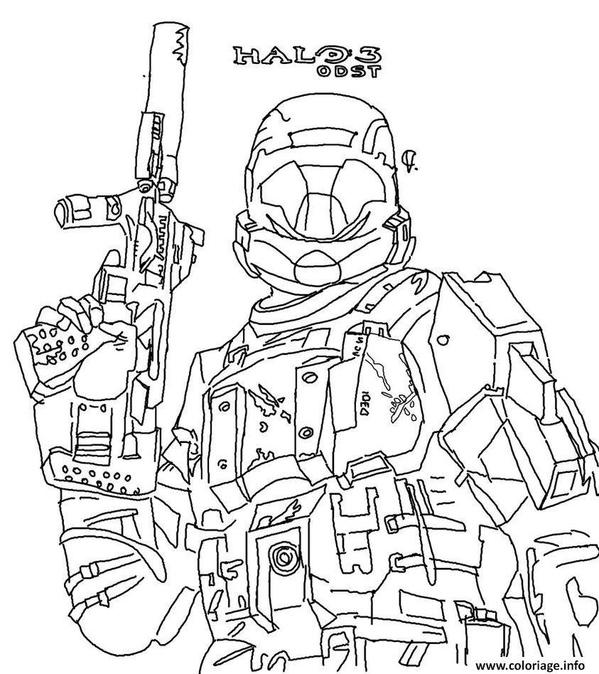 Coloriage Halo Reach Jeu dessin