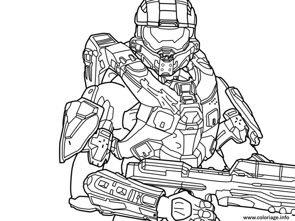 Coloriage halo 5 free dessin for Halo coloring pages