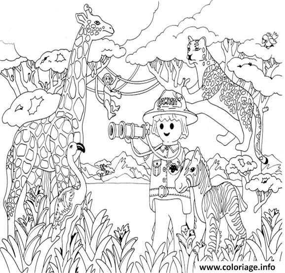Coloriage playmobil savane - Dessin a colorier playmobil moto ...