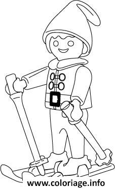 Coloriage Playmobil Ski dessin