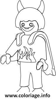 Coloriage Playmobil Diable Dessin