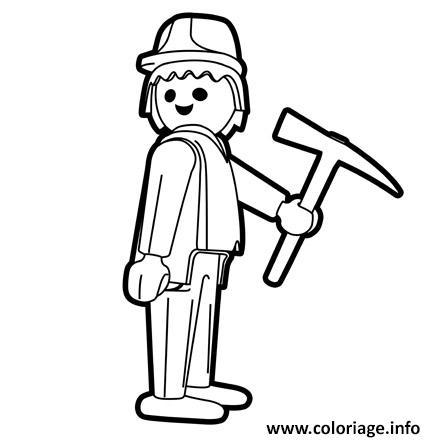 Coloriage playmobil travaux - Coloriage de chantier ...