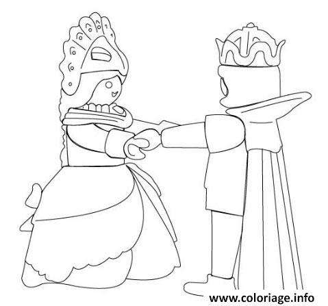 Coloriage Playmobil Prince Jecolorie Com