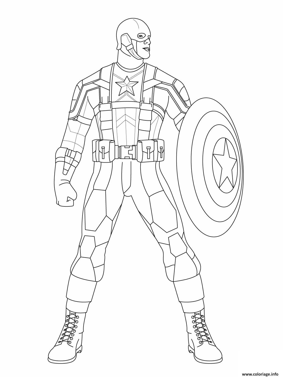 Coloriage Colorier Captain America 11 Dessin Captain ...