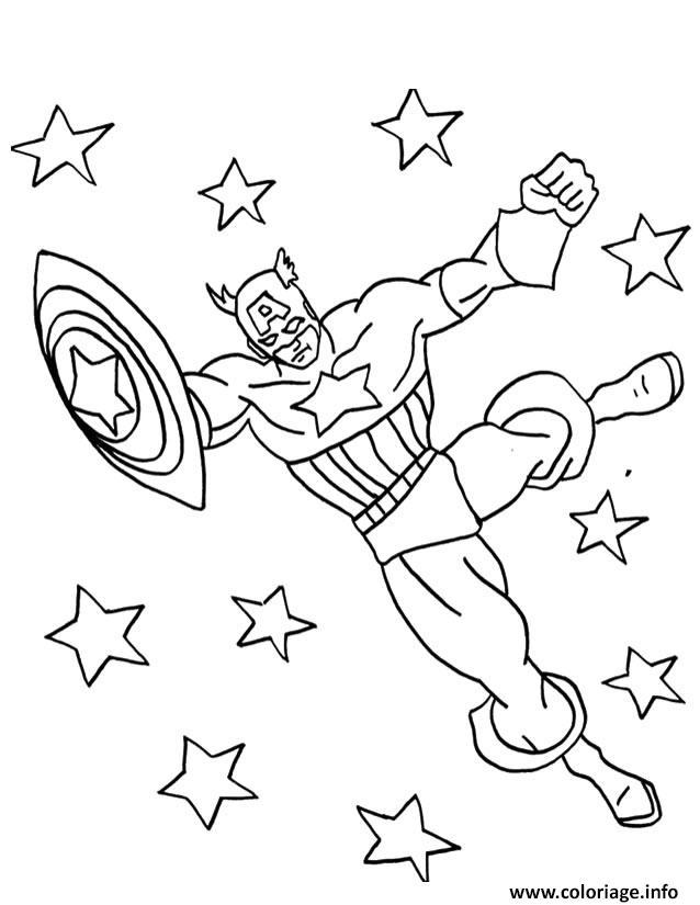 colorier captain america 29 coloriage