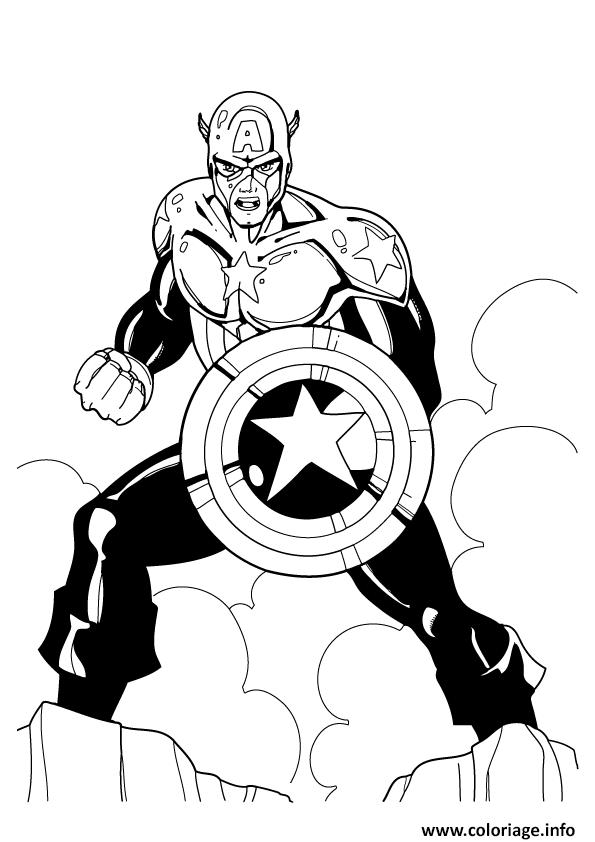 Coloriage colorier captain america 168 - Dessin captain america ...