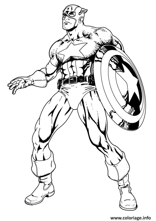 Coloriage colorier captain america 38 dessin - Dessin captain america ...