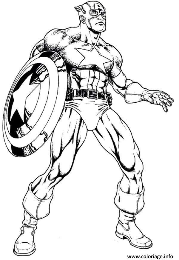 Coloriage Colorier Captain America 32 dessin