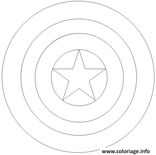 Coloriage Colorier Captain America 97 Jecolorie Com