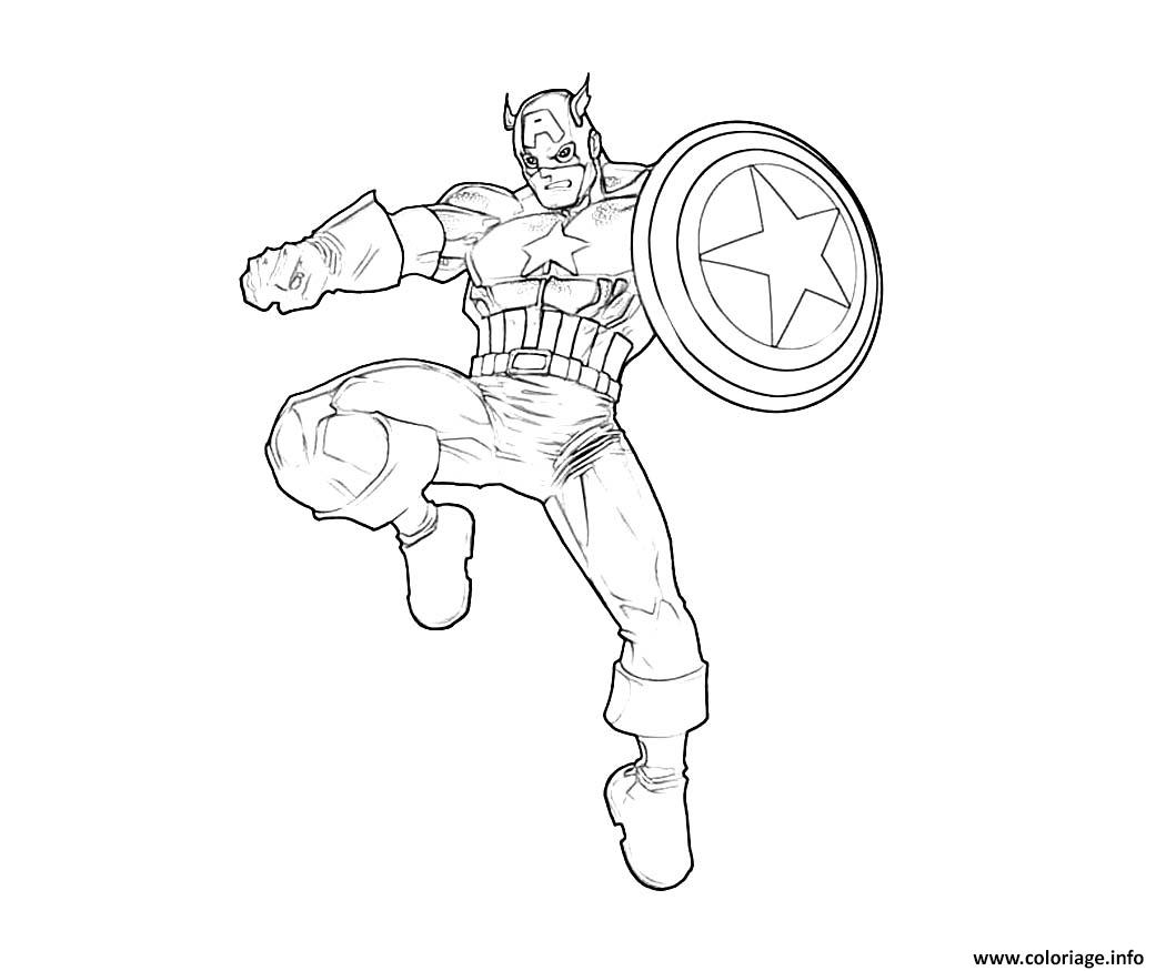 Coloriage Colorier Captain America 24 Dessin