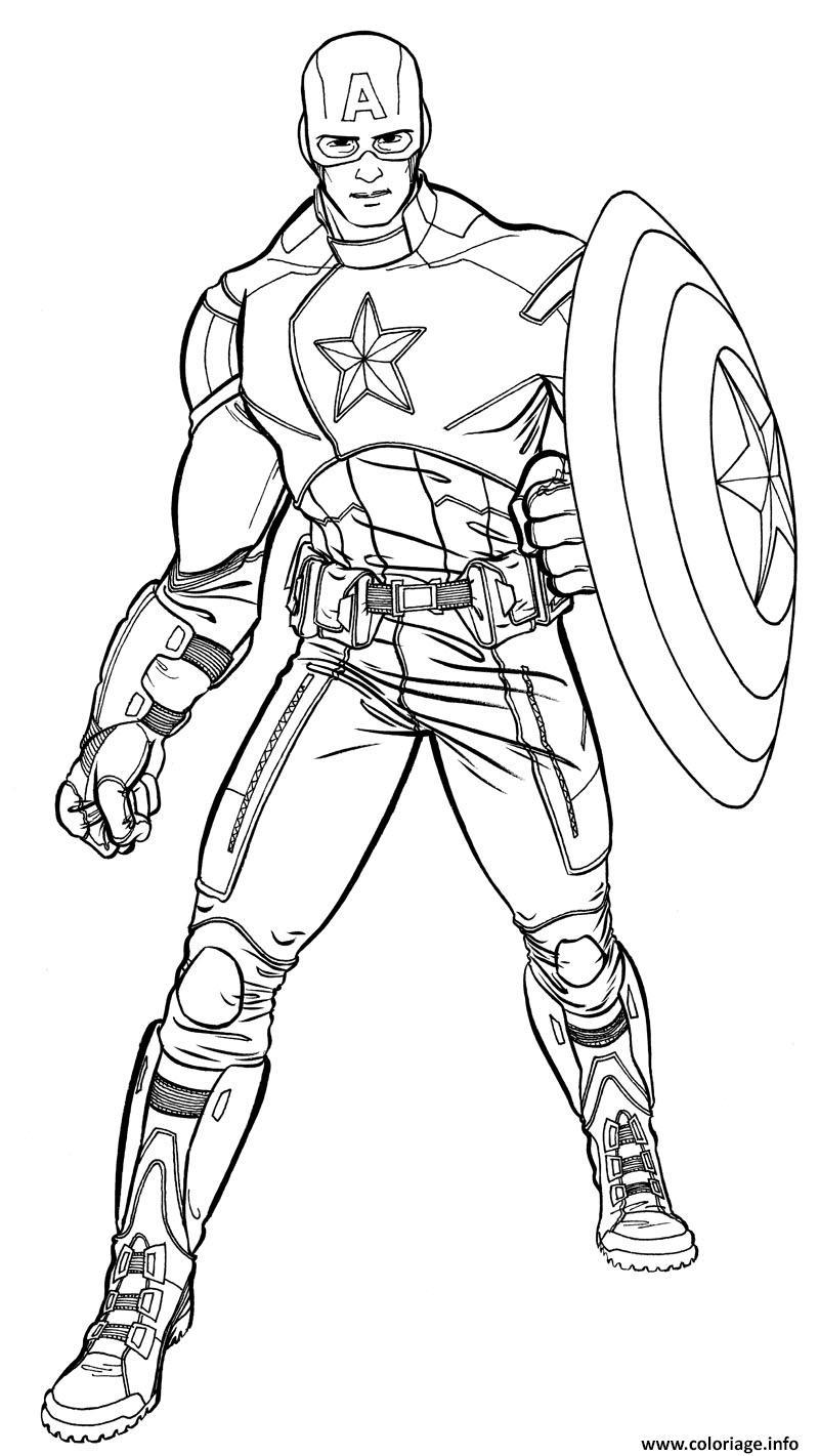 Coloriage colorier captain america 41 dessin - Jeux de captain america gratuit ...